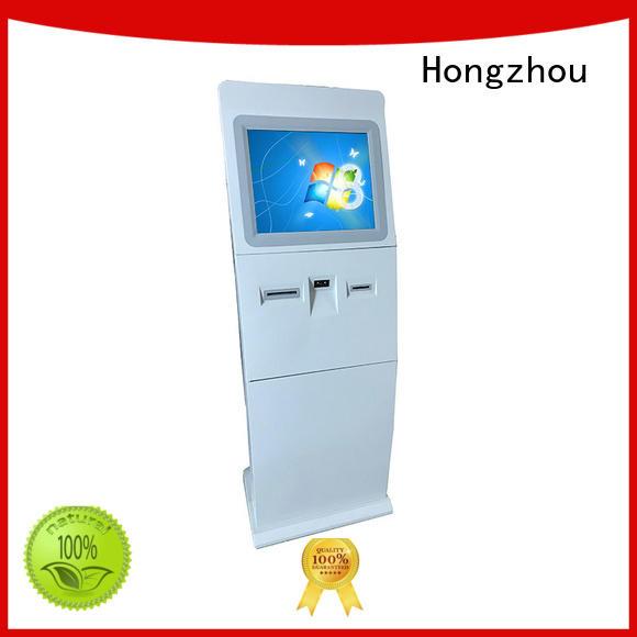 self service digital information kiosk receipt in airport Hongzhou