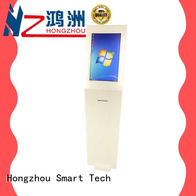 multimedia information kiosk machine receipt in bar