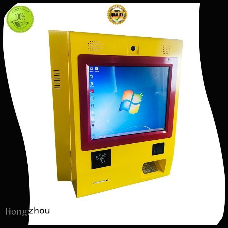 Hongzhou wall touch screen payment kiosk accept in