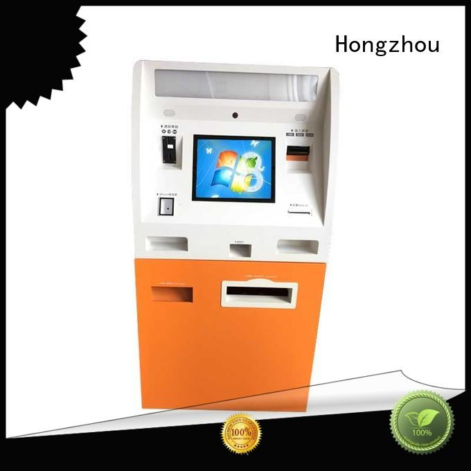 high quality self payment kiosk with laser printer in bank