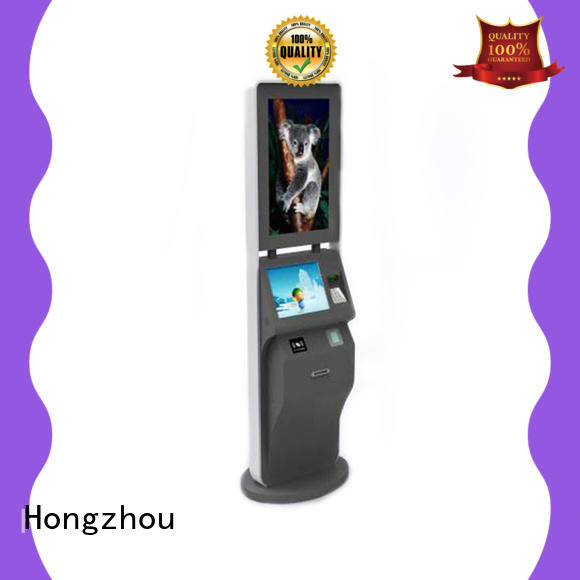 touch screen ticket kiosk machine with camera in cinema