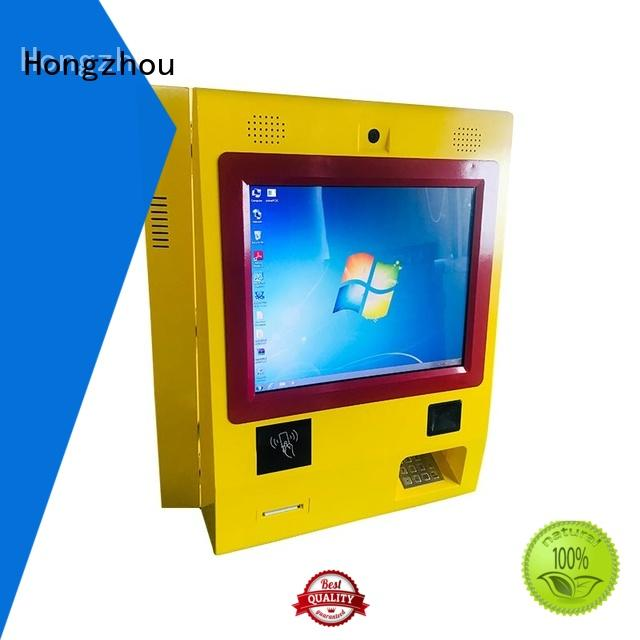 Hongzhou bill payment kiosk with laser printer in bank