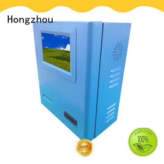 Hongzhou self service kiosk payment terminal with laser printer in hotel