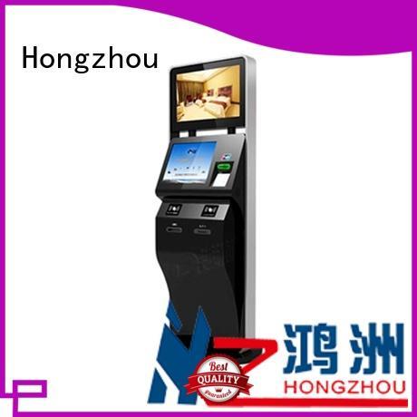 Hongzhou self service ticketing kiosk with printer in cinema
