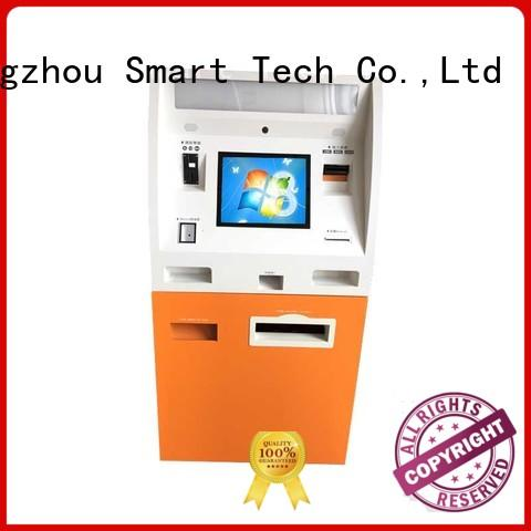 self service kiosk payment terminal coated in bank