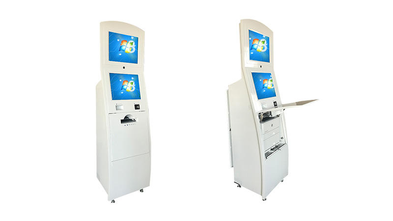Self service landing visa kiosk with A4 printer Receipt printer QR code scanning Camera and 4G Wireless routing in Airport-2