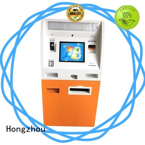 dual screen kiosk payment terminal acceptor in hotel