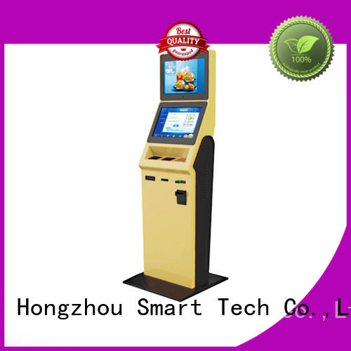 Hongzhou multi function hotel check in kiosk with card reader for sale