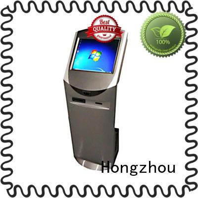 Hongzhou digital information kiosk with printer in airport