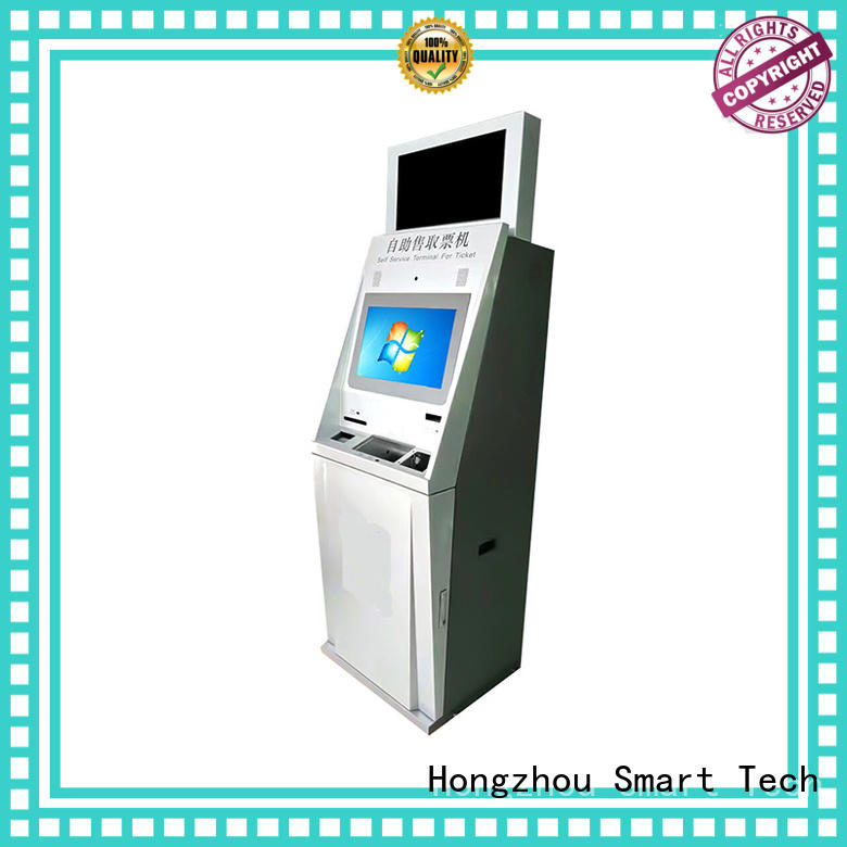 touch screen ticketing kiosk with printer in cinema