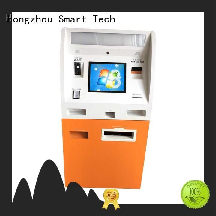 windows automated payment kiosk coated in bank