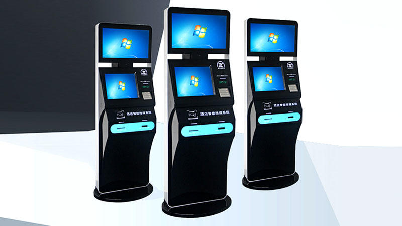 LED inquiry hotel check in kiosk with thermal printer-1