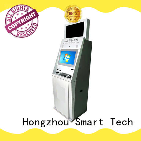 Hongzhou capacitive kiosk ticketing system with printer for sale