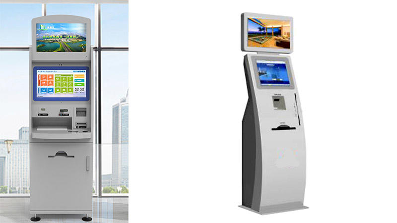 Self-service check in kiosk with bar code reader in hotel-1