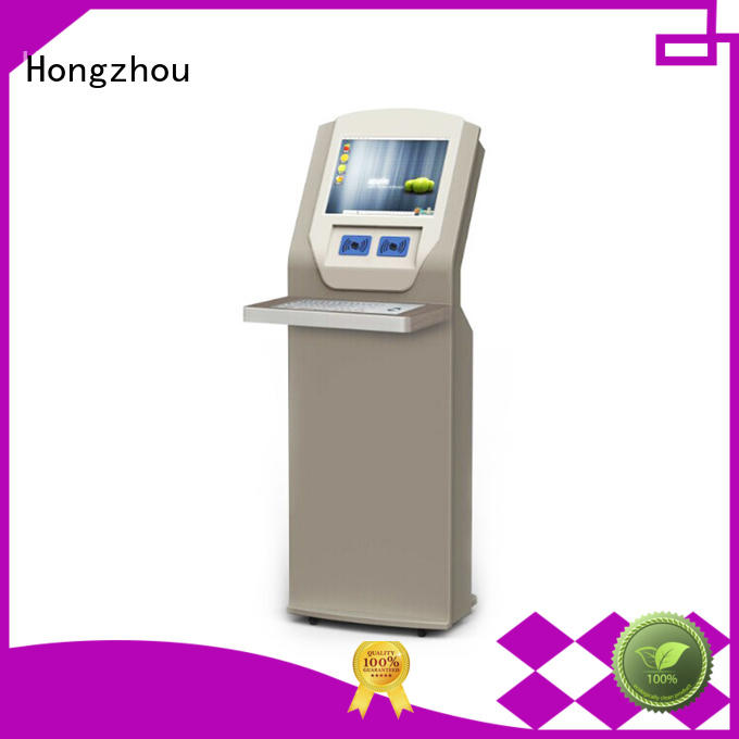 Hongzhou customized library kiosk system with id card reader in book store