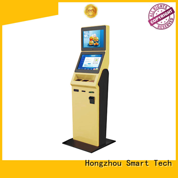 inquiry self service check in kiosk hotel with printer in hotel