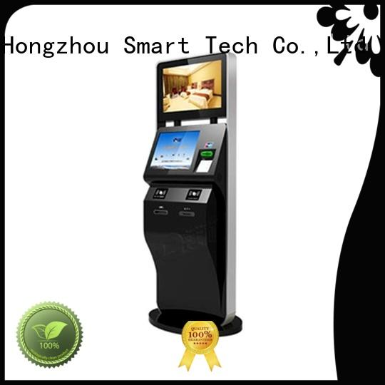 Hongzhou touch screen self service ticketing kiosk supplier on bus station