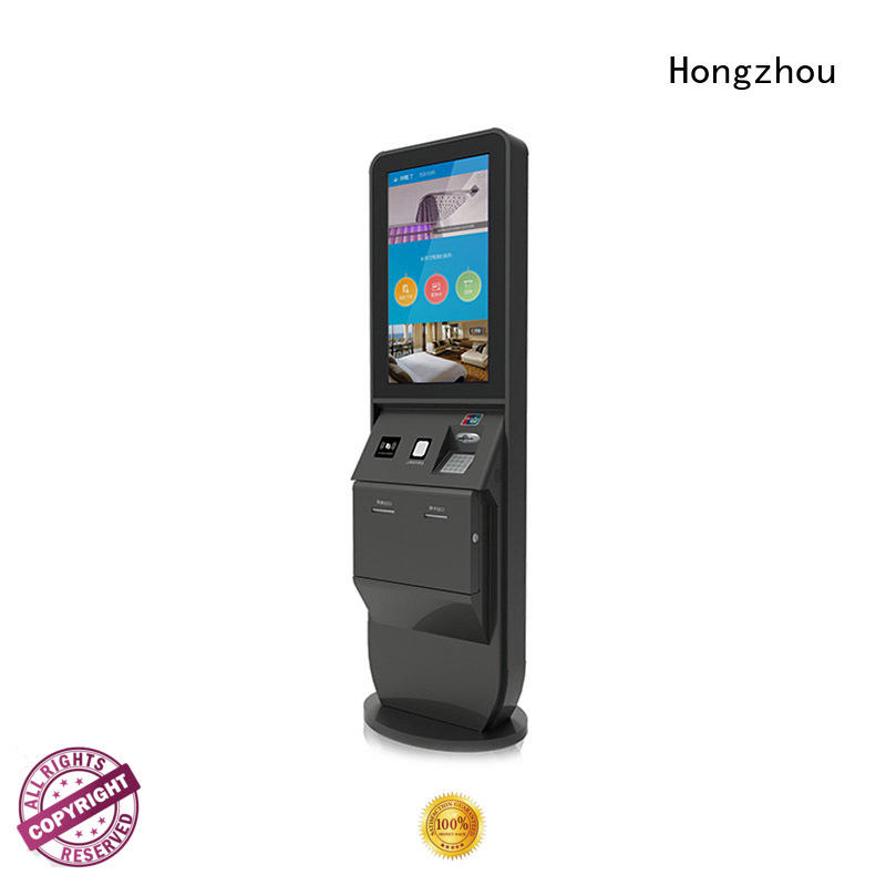 Hongzhou hotel self check in machine with barcode scanner in hotel