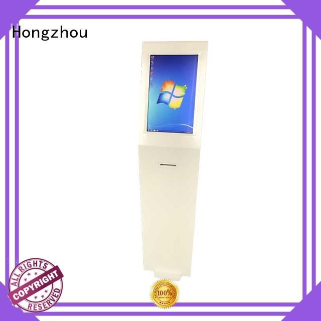 Hongzhou floor standing information kiosk supplier in airport