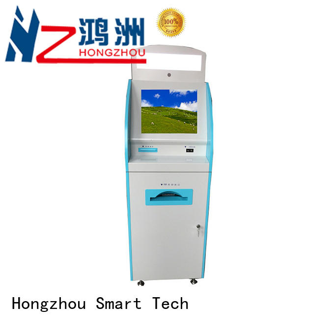 Hongzhou touch screen patient self check in kiosk key for patient