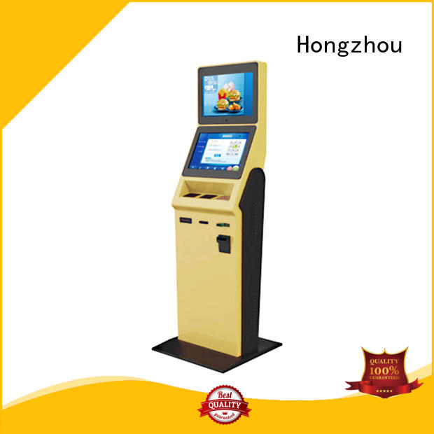 Hongzhou high end hotel check in kiosk with barcode scanner in hotel