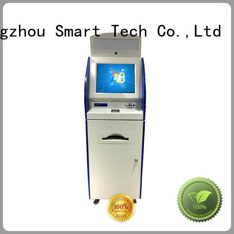 Hongzhou touch screen information kiosk with qr code scanning for sale