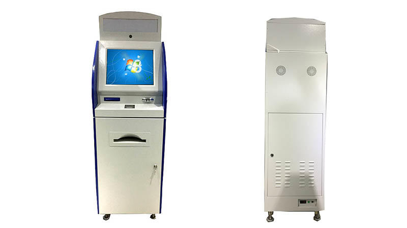 multimedia interactive information kiosk with printer for sale-3
