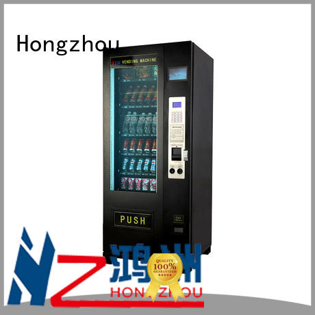 Hongzhou intelligent commercial vending machine with barcode scanner for airport