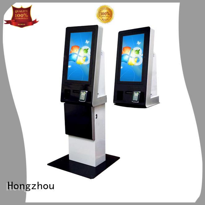 self service pay kiosk keyboard in bank