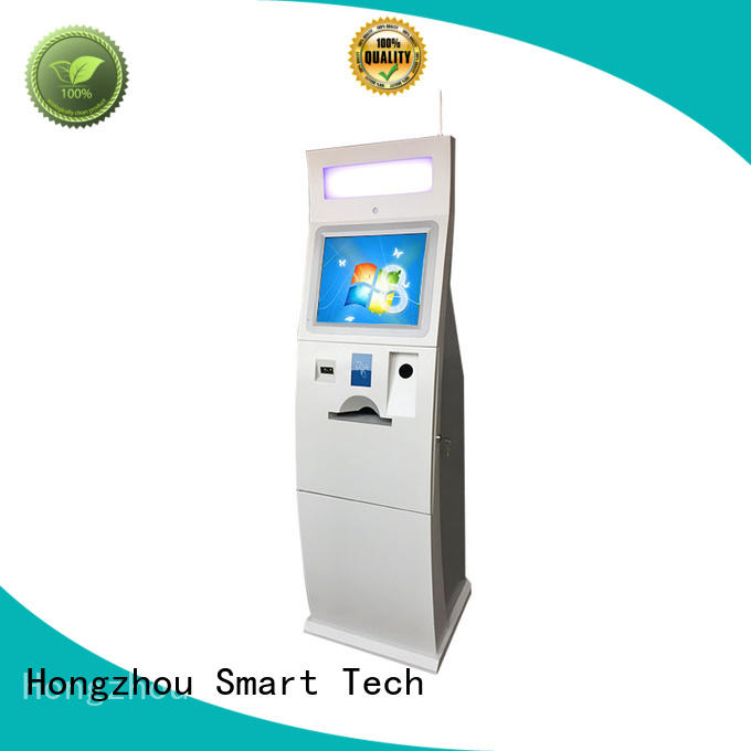 Hongzhou self service payment kiosk with laser printer in bank