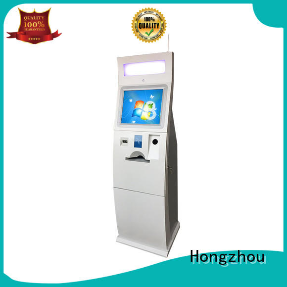 HD dual screen payment Kiosk with POS machine and A4 laser printer in hotel