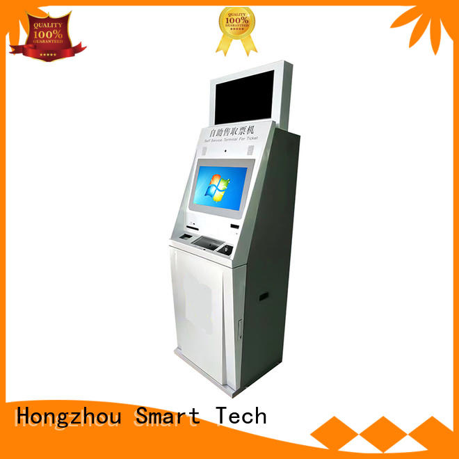 capacitive outdoor ticket kiosk with printer on bus station Hongzhou