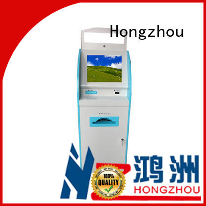 Hongzhou touch screen patient check in kiosk key in hospital