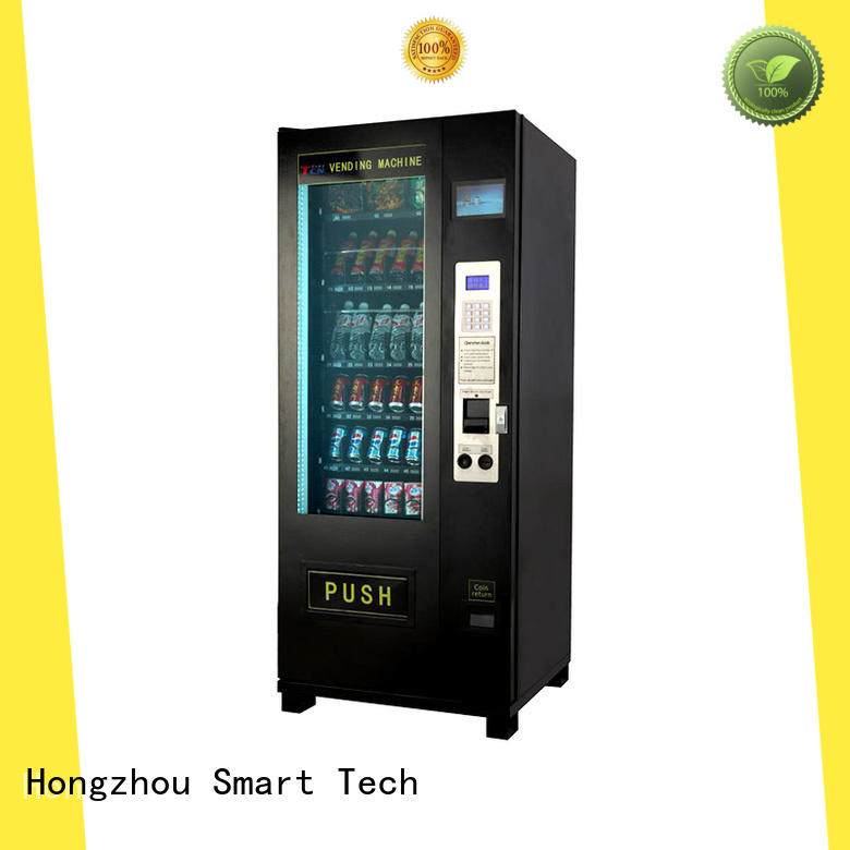 soft snack vending machine with barcode scanner for shopping mall