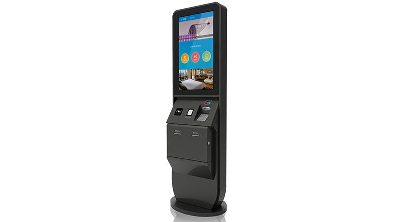 LED inquiry hotel check in kiosk with thermal printer-2