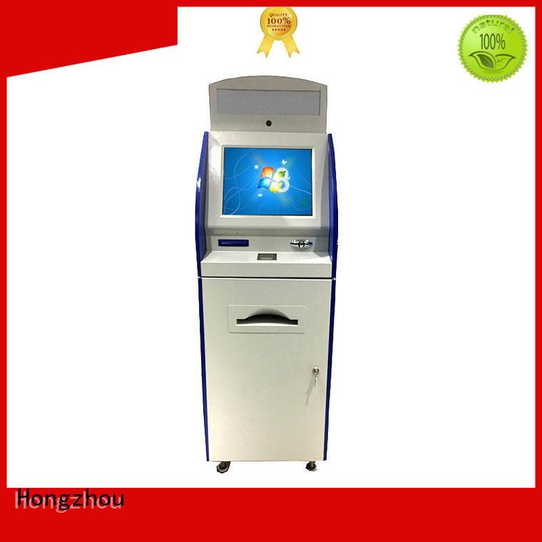 Hongzhou indoor information kiosk with printer in airport
