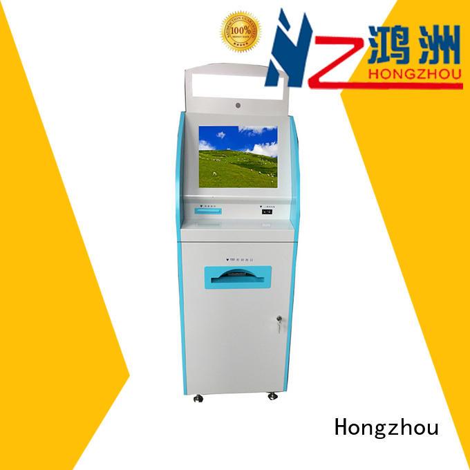 Hongzhou custom patient self check in kiosk for busniess in hospital