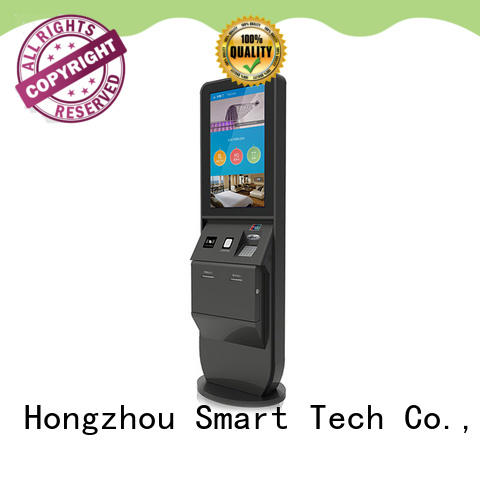 Hongzhou inquiry hotel check in kiosk with barcode scanner in hotel