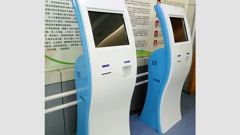 Hongzhou custom patient self check in kiosk for line up in hospital-2
