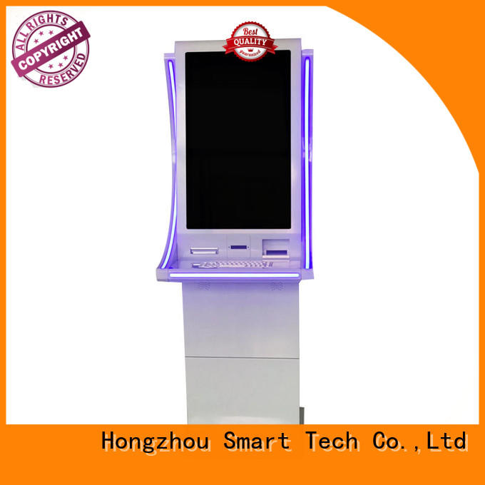metal bill payment kiosk acceptor in bank