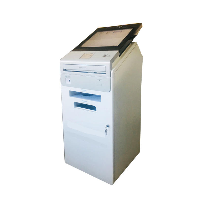 Multi function A4 printer bar-code card reader kiosk in government