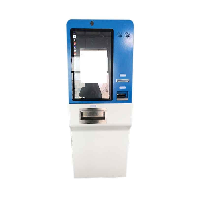 27 inch touch screen cash accept and dispenser payment kiosk for money Exchange in hotel and airport