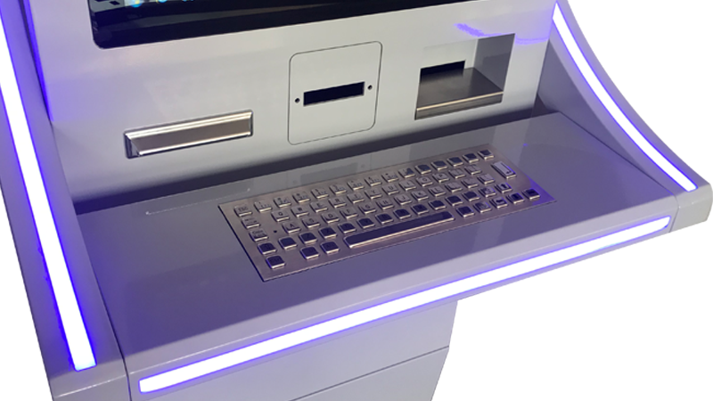 Hongzhou windows system automated payment kiosk keyboard in hotel-5