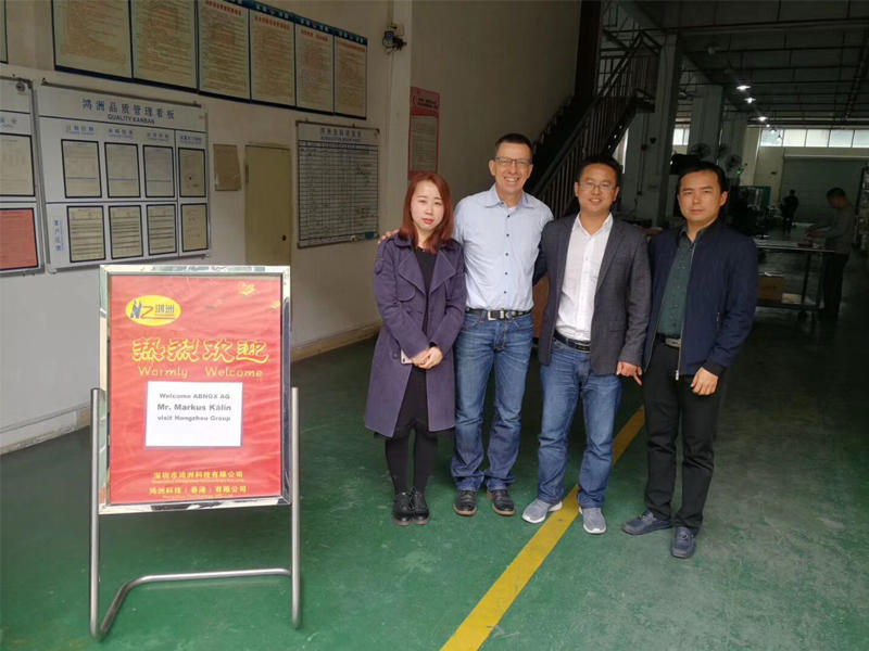 11th Sep. 2019, welcome Swiss ABNOX Markus visit and audit Hongzhou