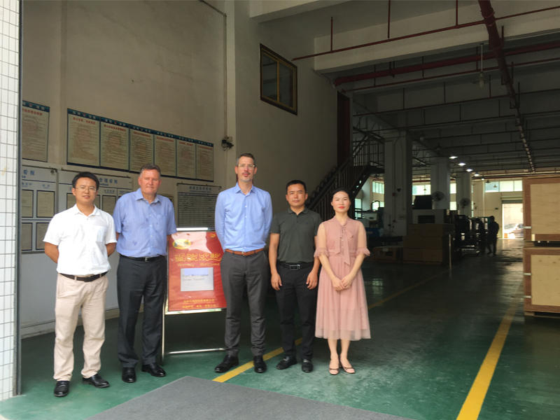 12th Sep. 2019,Buhler UK Manufacturing Director Nigel and Operation Manager Jerome visit Hongzhou