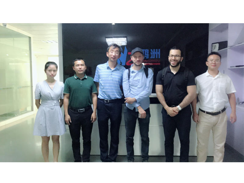 25th Sep. 2019 Welcome French customer Hocine and Thomas visit Hongzhou