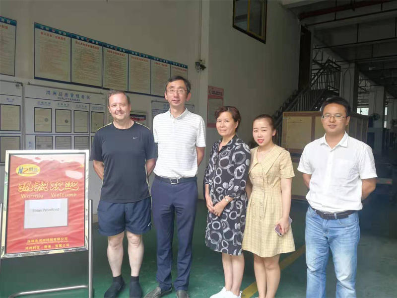 19th Oct. 2019 Welcome old sheet metal client Mr Brian and his wife to visit our factory