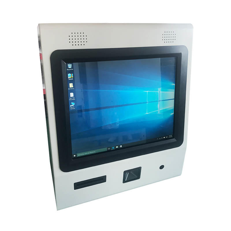 OEM ODM Wall mounted touch screen kiosk with QR code scanner and WIFI