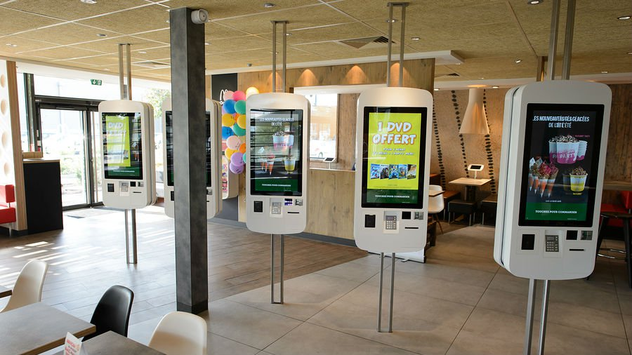 Hongzhou factory price self service kiosk with pos terminal for restaurant-1