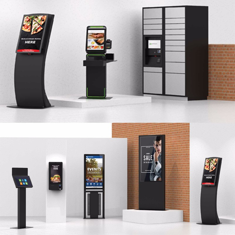 Hongzhou touch screen self service ticketing kiosk with printer for sale-1